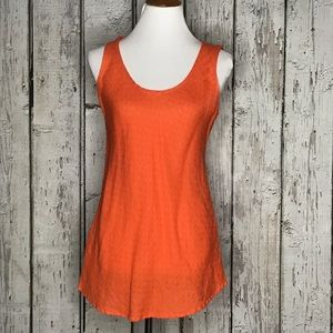 Flax orange tank top size Small